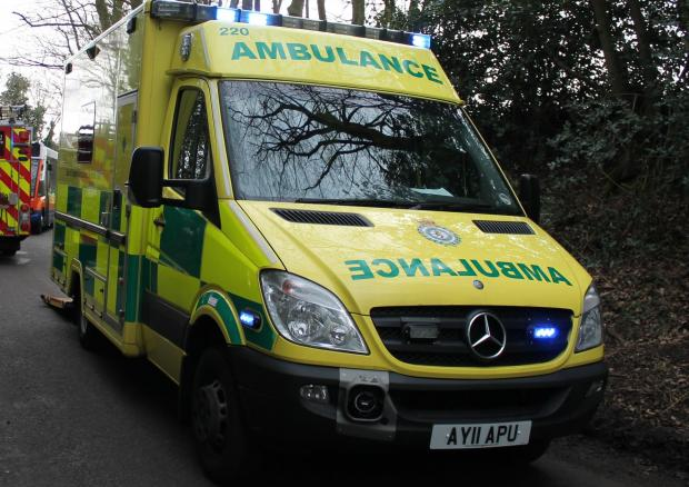 Boy rushed to hospital after colliding with bus