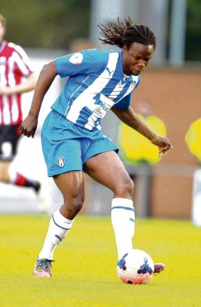 Back in action - Marcus Bean returned from injury for Colchester United in their 2-0 pre-season friendly defeat at the hands of Bishop's Stortford.