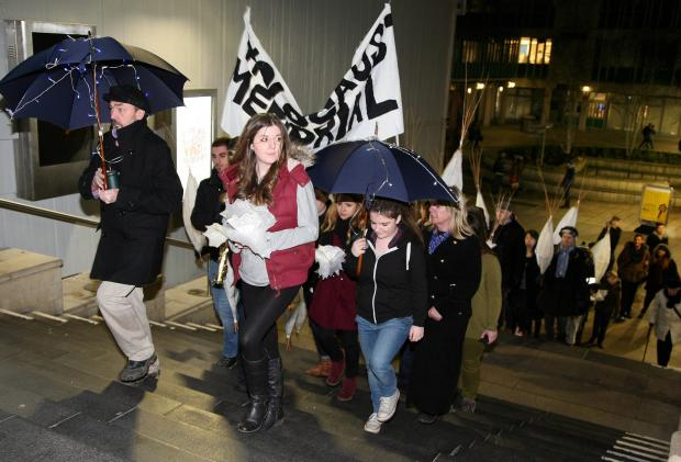 Gazette: Procession marks Holocaust legacy