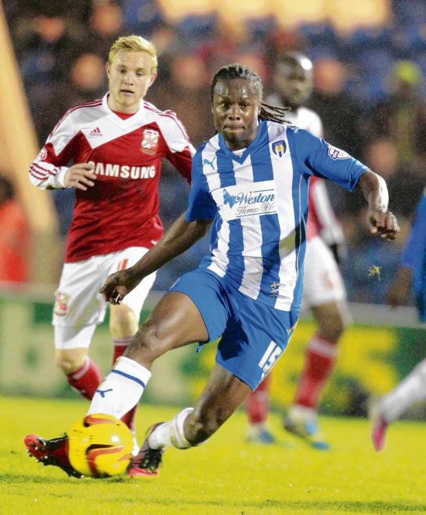 Gazette: We meet again - Colchester United's Marcus Bean looks for an opening during his side's 2-1 home defeat against Swindon Town, last November. Picture: STEVE BRADING (CO86651-48)