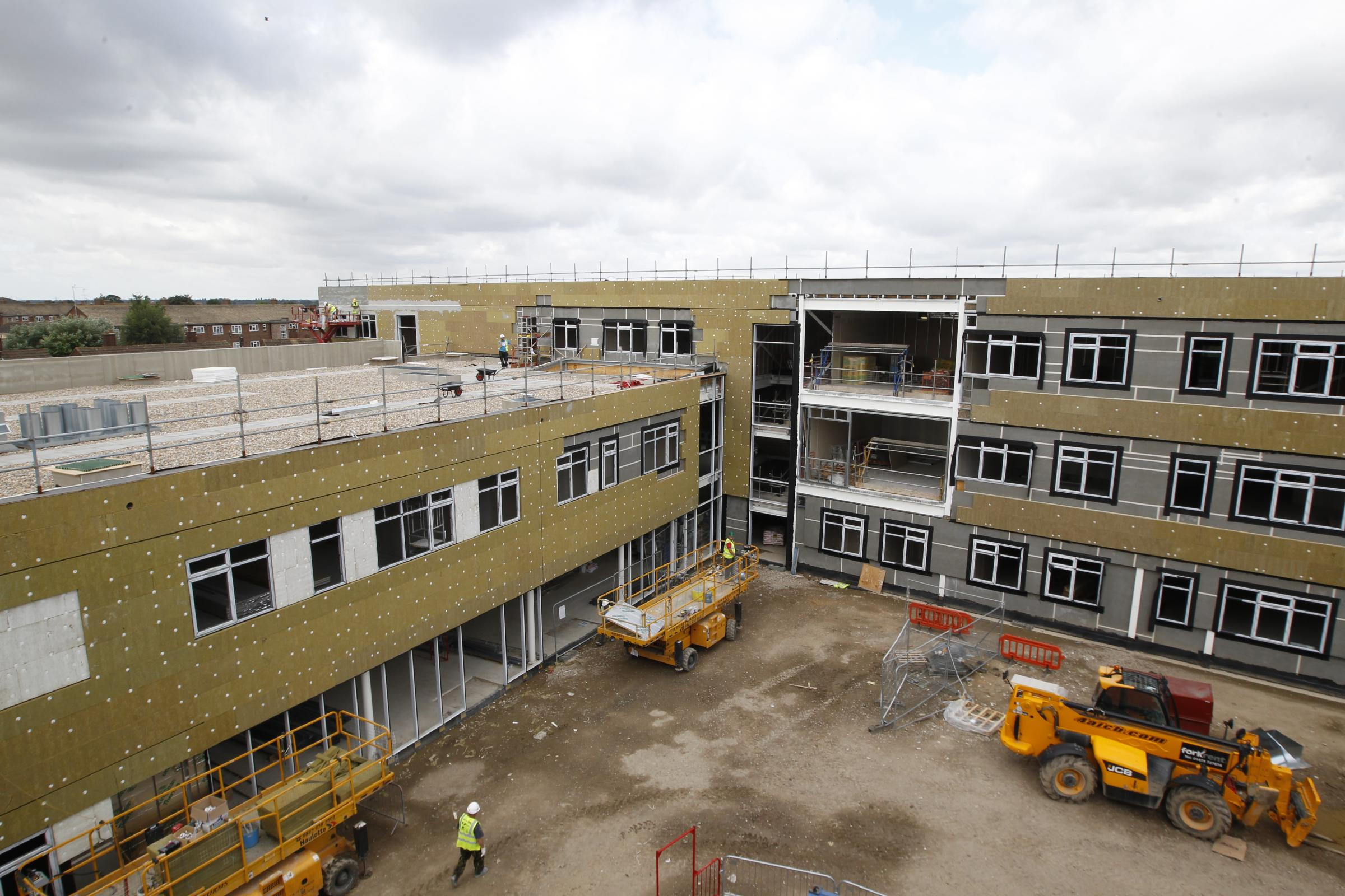 Construction work at the new Colchester Academy building is now complete.