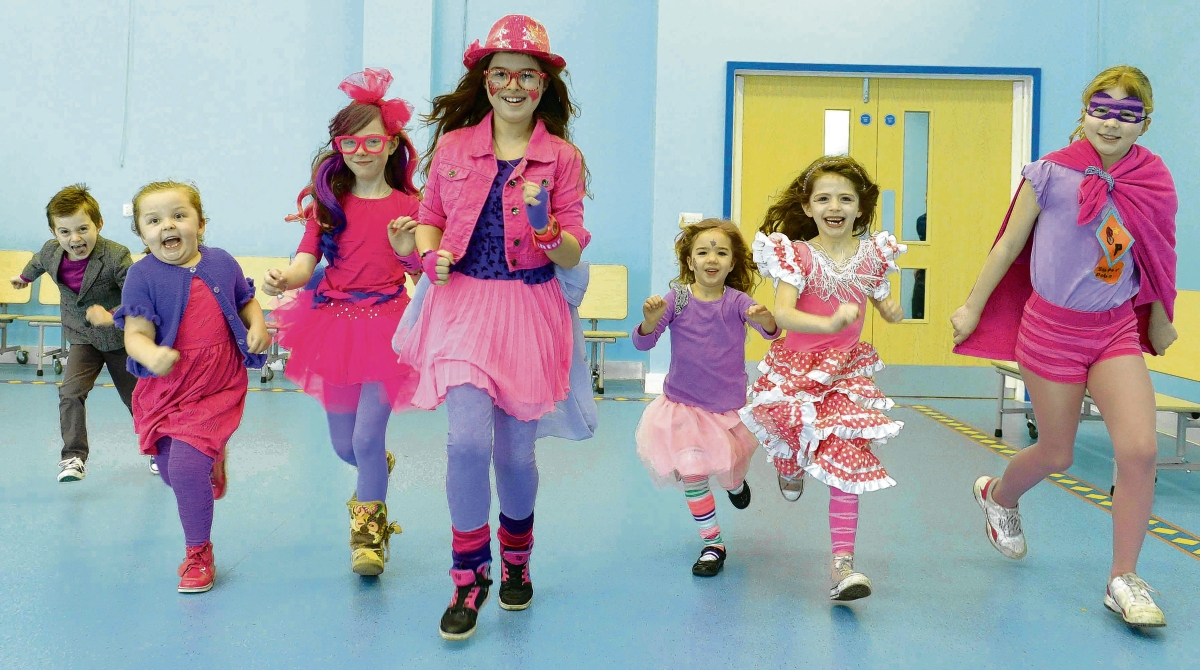 Pink and purple pupils raise money for charity