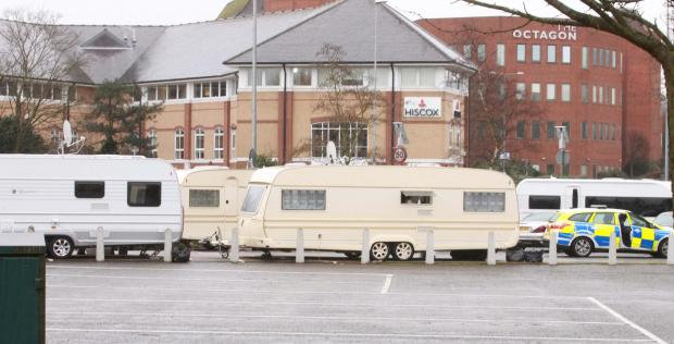 Gazette: Travellers pitch camp in town car park