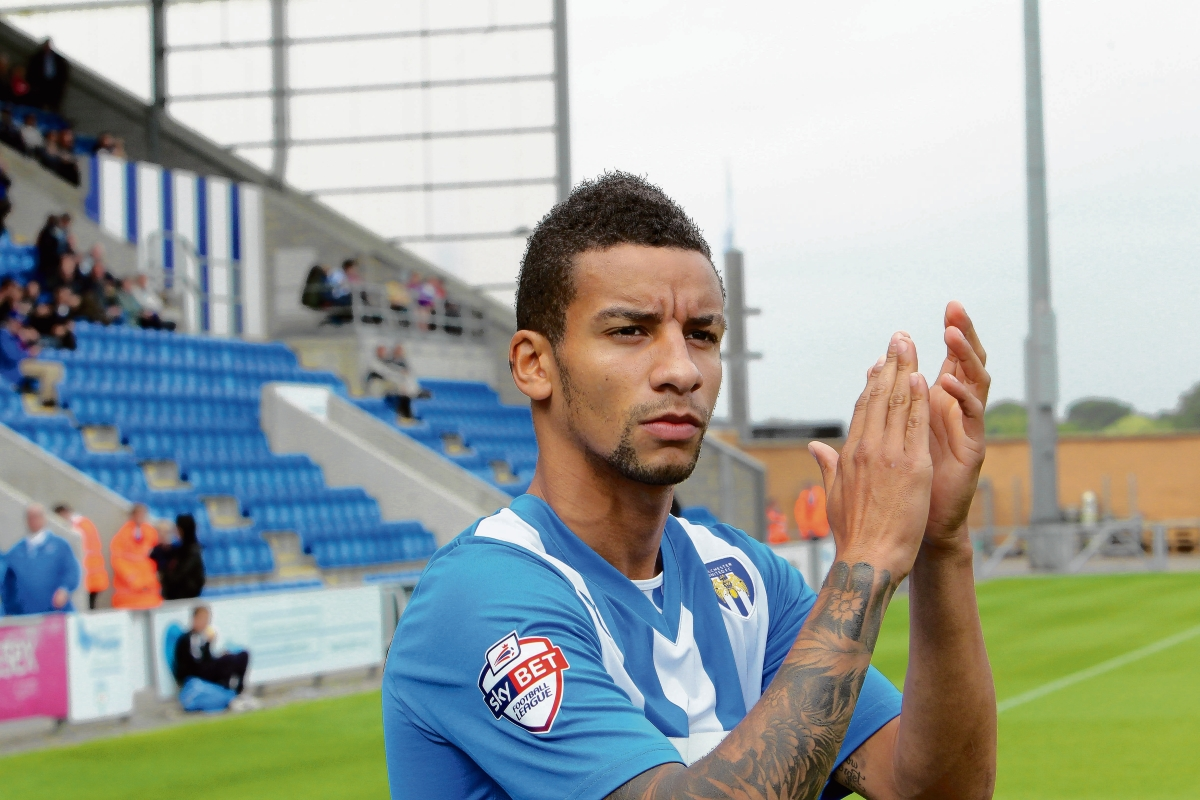 Happy - Craig Eastmond is relishing being a regular in Colchester United's starting line-up this season. Picture: STEVE ARGENT (CO83729-02)