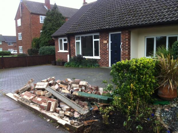 Gazette: Berechurch Road blocked after car smashes through brick wall