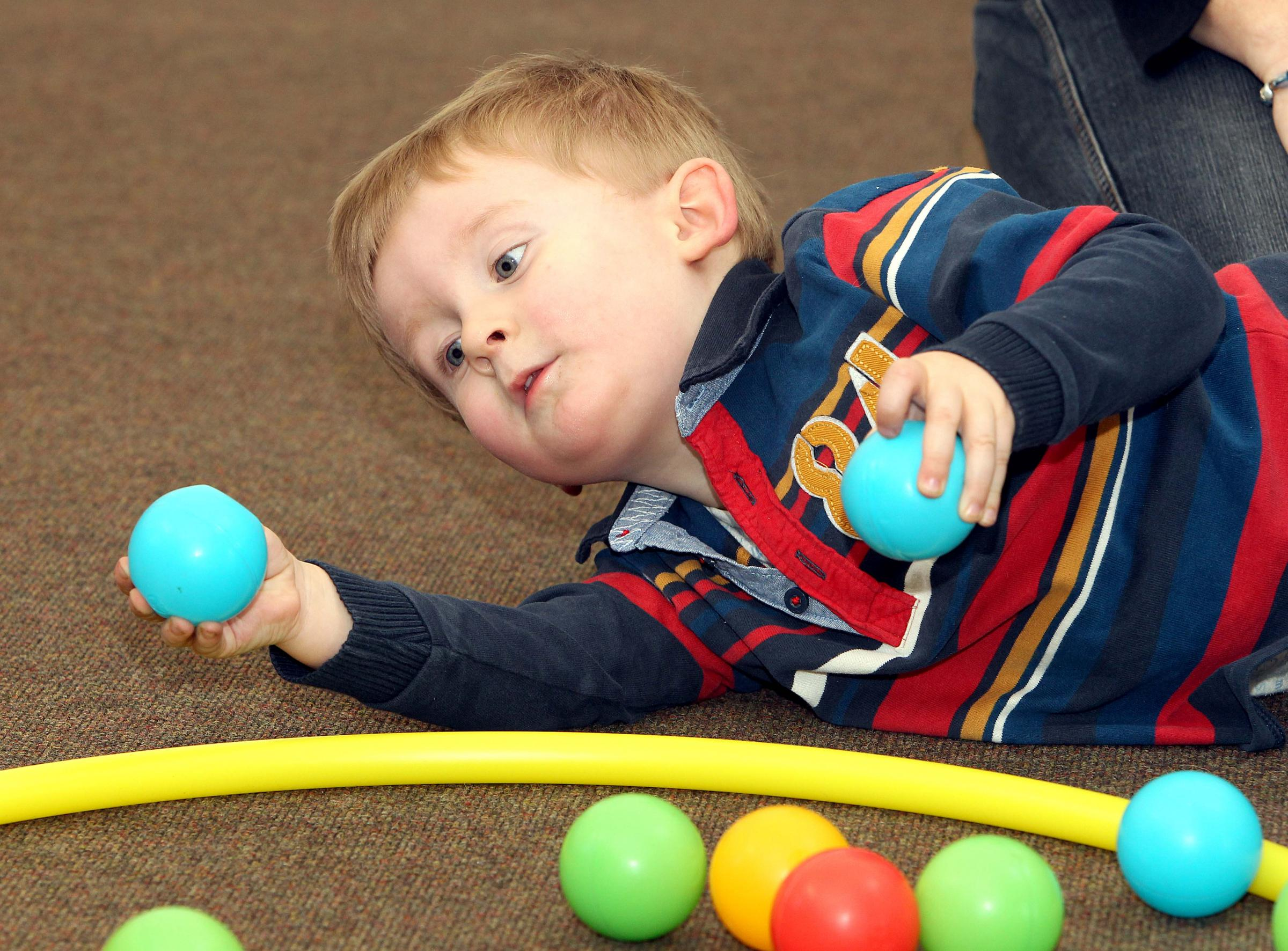 Jamie Morrison, two, takes part in one of the activities.