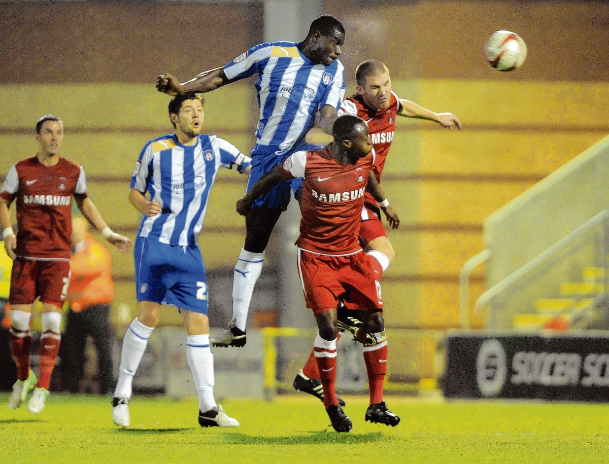 Happy memories - Colchester defender Magnus Okuonghae played his part in helping them claim a 2-0 win at Leyton Orient, last season. Picture: WARREN PAGE