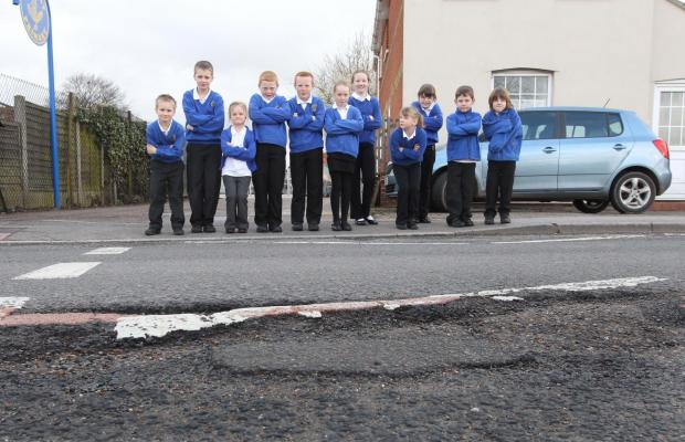 Gazette: Primary school's pothole petition