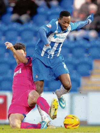 Boost - Sanchez Watt's return will lift Colchester United when they play Rotherham United tonight. Picture: SEANA HUGHES (CO89001-13)