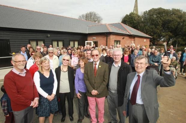 150 join party to mark village hall's revamp