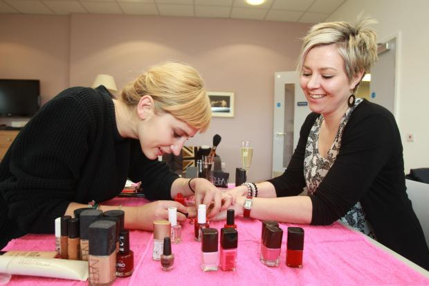 Heroes' loved ones treated to pamper day