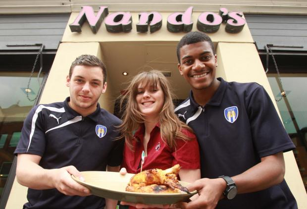 Gazette: U's players Drey Wright and Jordan Sanderson with manager Charlotte Smith