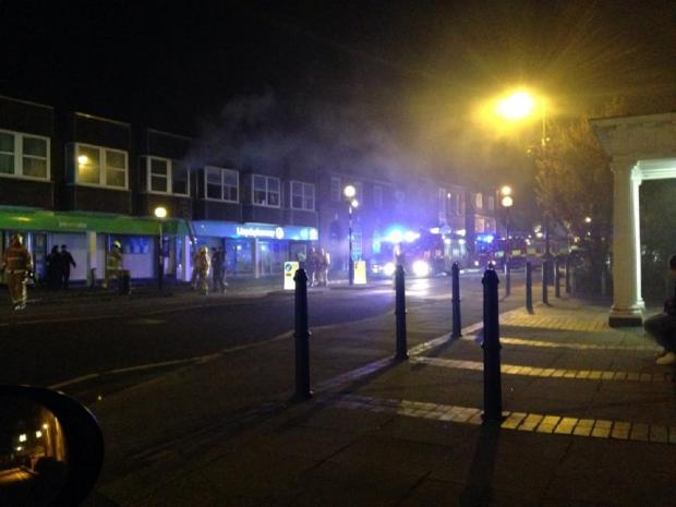 Gazette: The fire broke out in Newland Street (Picture: Alan Brown)