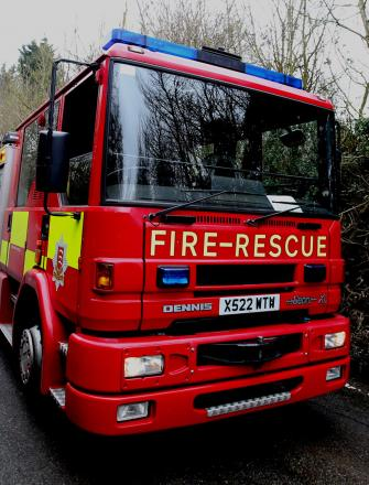 Firefighters tackle hay blaze