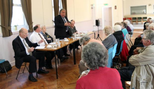 Gazette: EU candidates set out their stall to Colchester pensioners