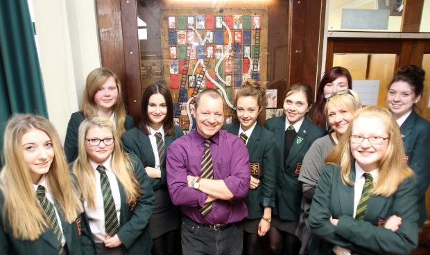 Gazette: Pupils get creative for snakes and ladders collage
