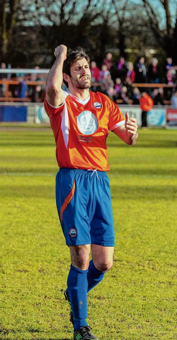 Gazette: Dean Wells' display at the back earned him man-of-the-match at Halifav. Picture: NEIL DADY