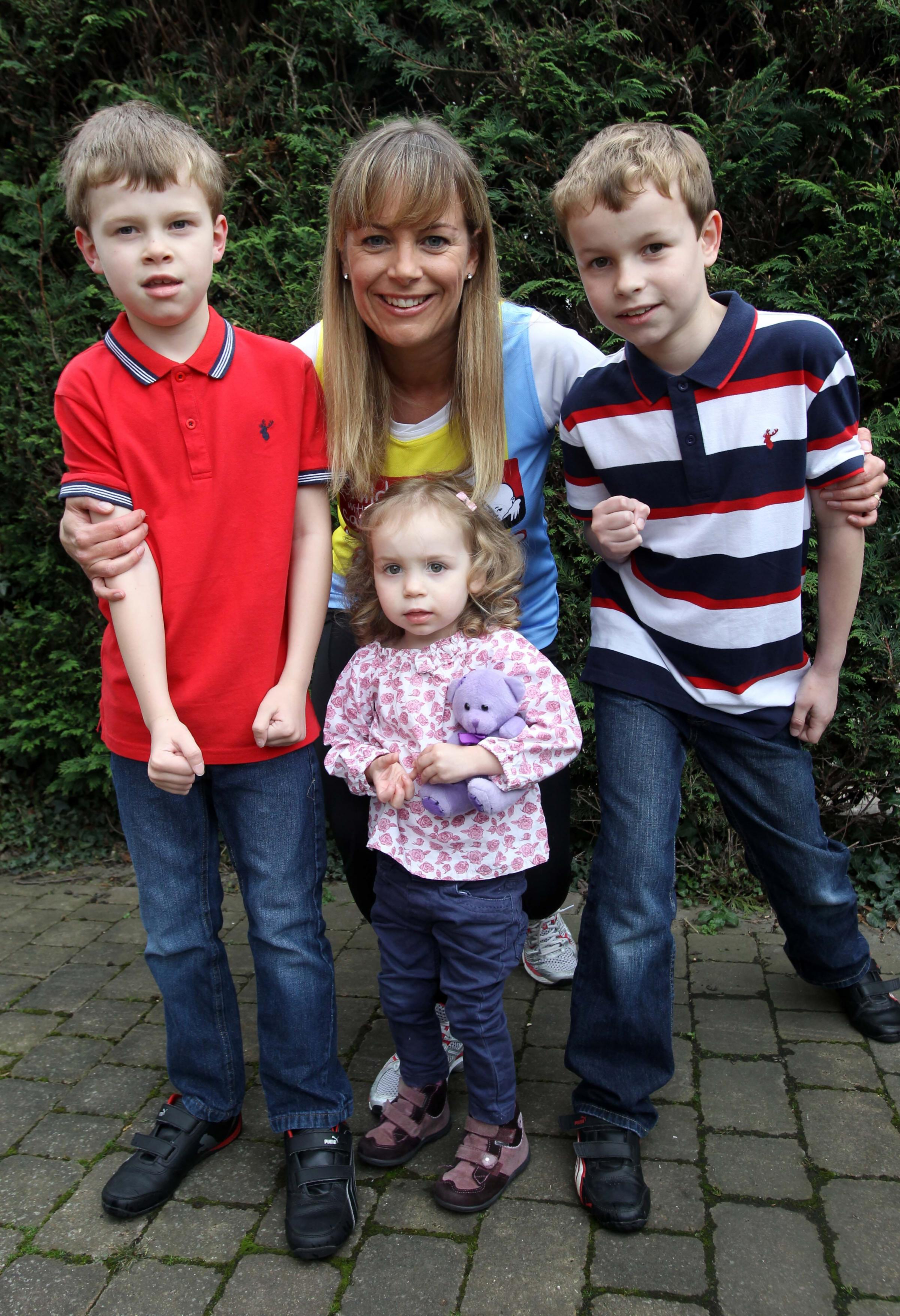 Mum's marathon thanks to charity after sons battled cancer