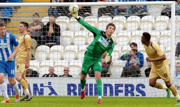 "Gazette: Realistic - Colchester United goalkeeper Sam Walker admits they are in ""deep trouble"" following a damaging 2-1 defeat against Tranmere Rovers. Picture: SEANA HUGHES"