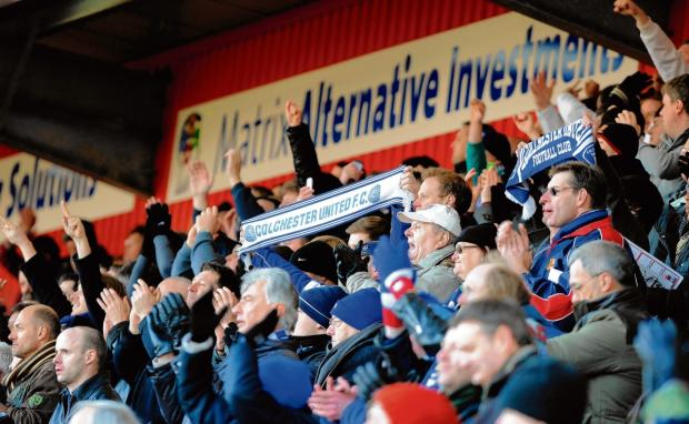 Backing - Colchester United fans were out in numbers at Broadhall Way last season and the U's are hoping for a bumper away turnout tomorrow. Picture: WARREN PAGE