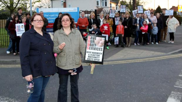 Gazette: Mums protest over Harwich maternity unit closure