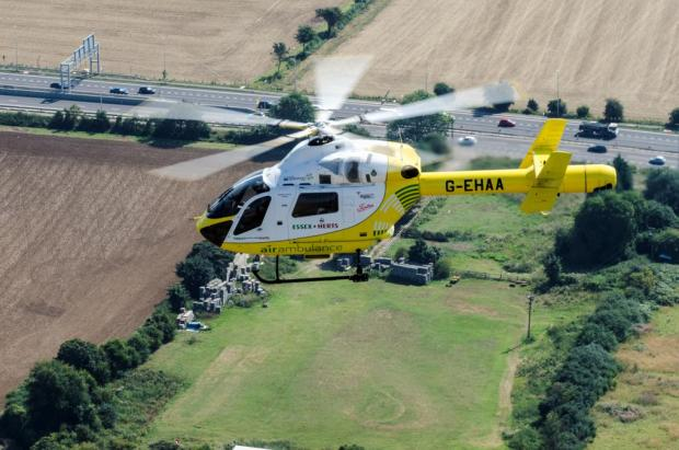 Air ambulance called to man who suffered lacerated foot