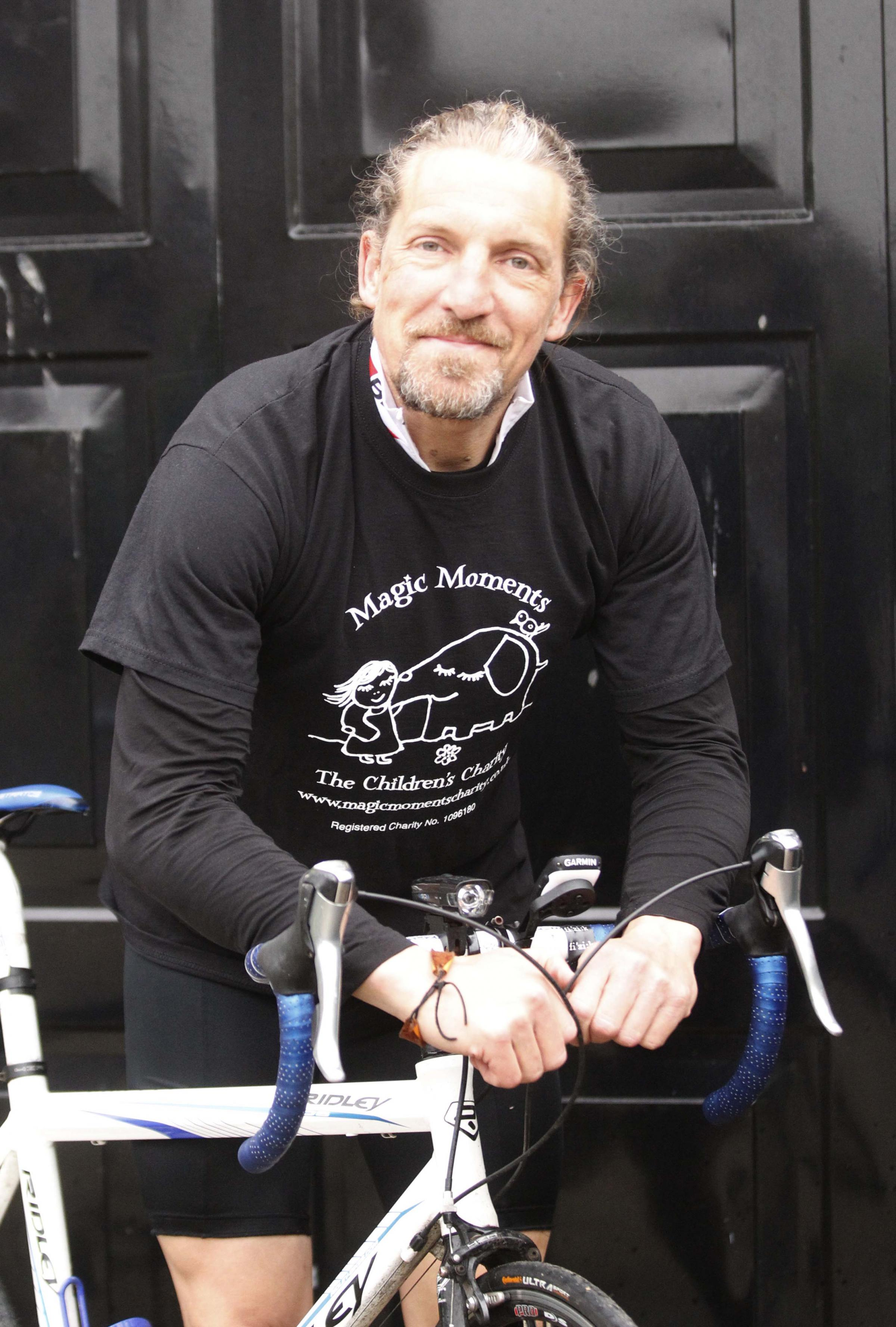 Ivan Chatton, who's preparing for a 1,000-mile bike ride.