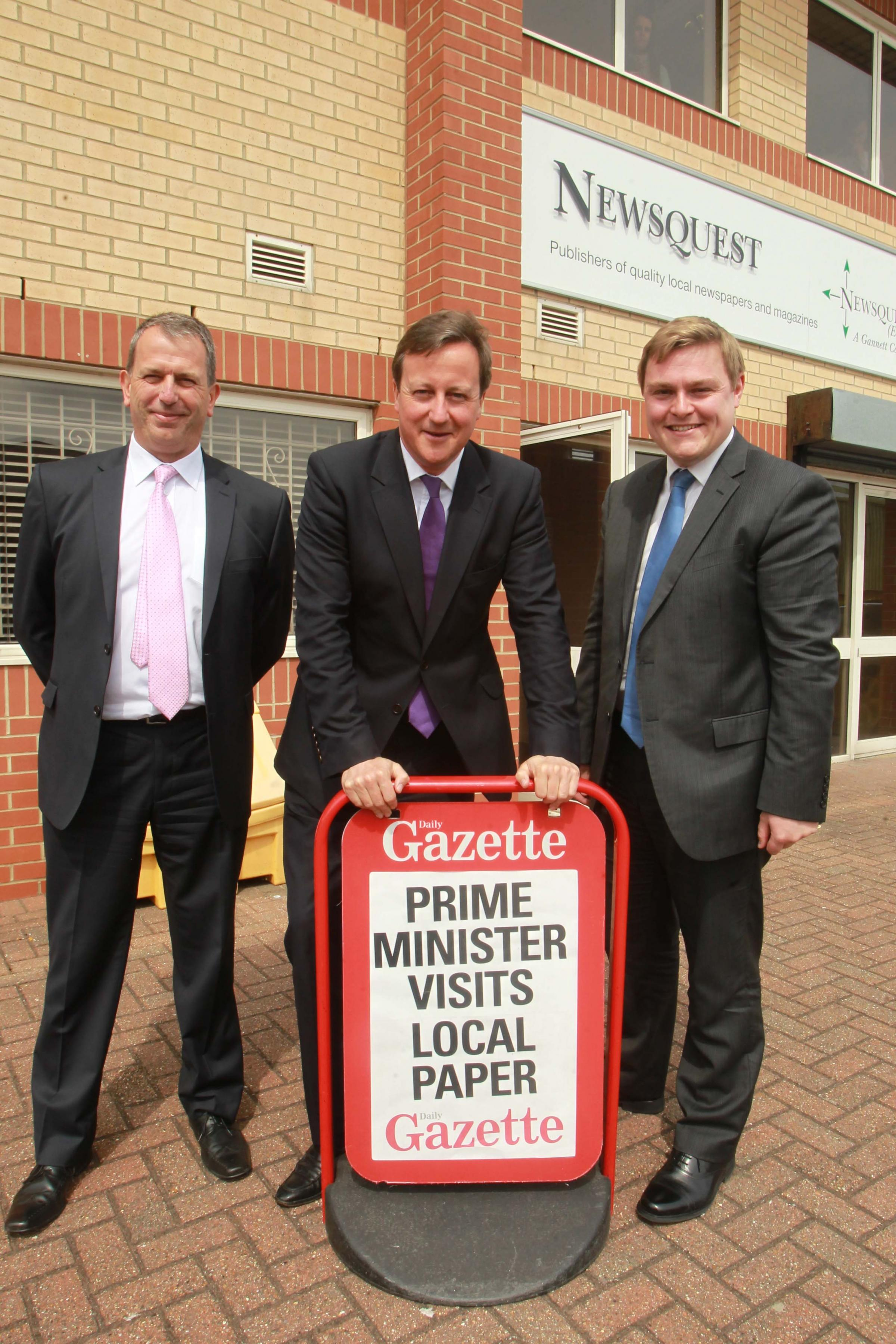 Prime Minister David Cameron visits Essex to launch Help to Work scheme