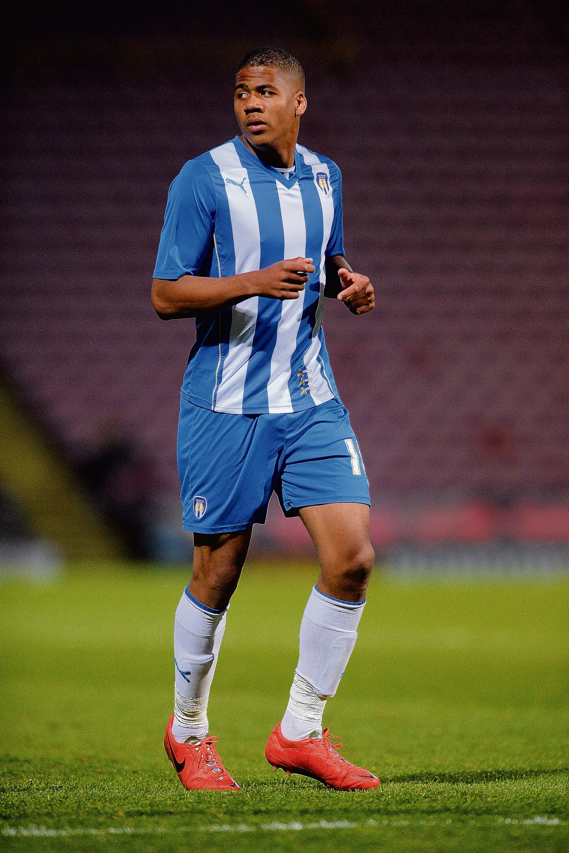 Brilliant brace - Dominic Smith scored twice in Colchester United under-21s' fine 2-1 triumph at Leeds United on Monday night. Picture: RICHARD BLAXALL