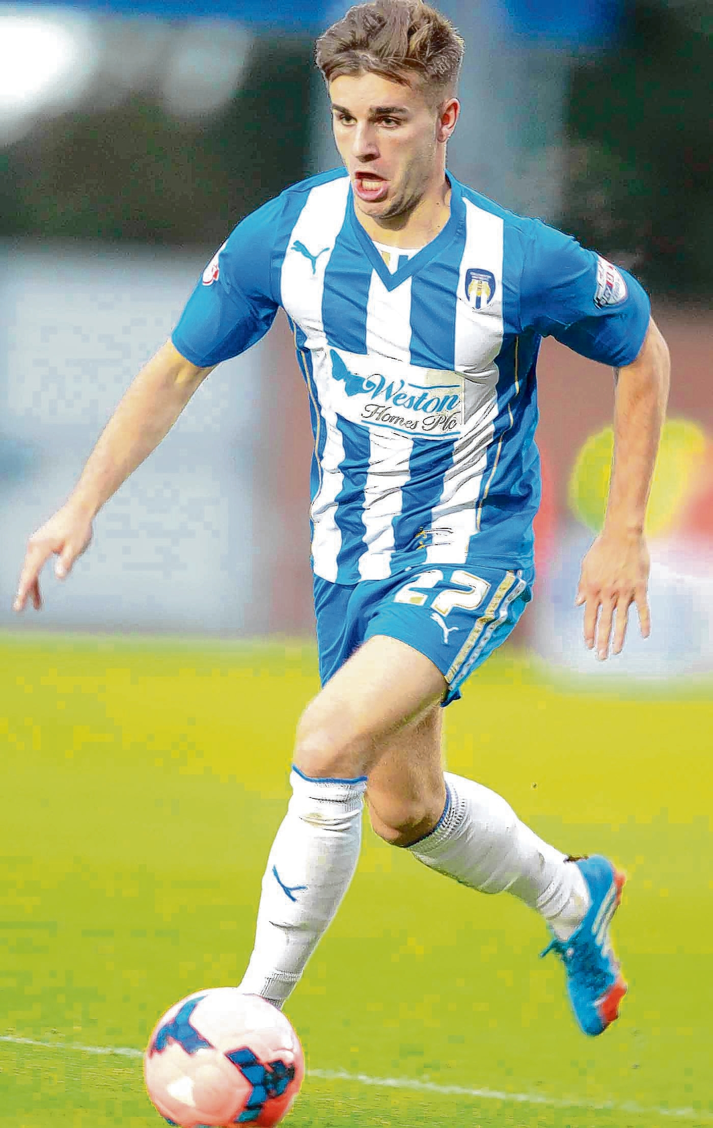 Impressive - Luke Garbutt made a big impact during his four-month loan spell with Colchester United from Everton. Picture: STEVE BRADING (CO86650-15)
