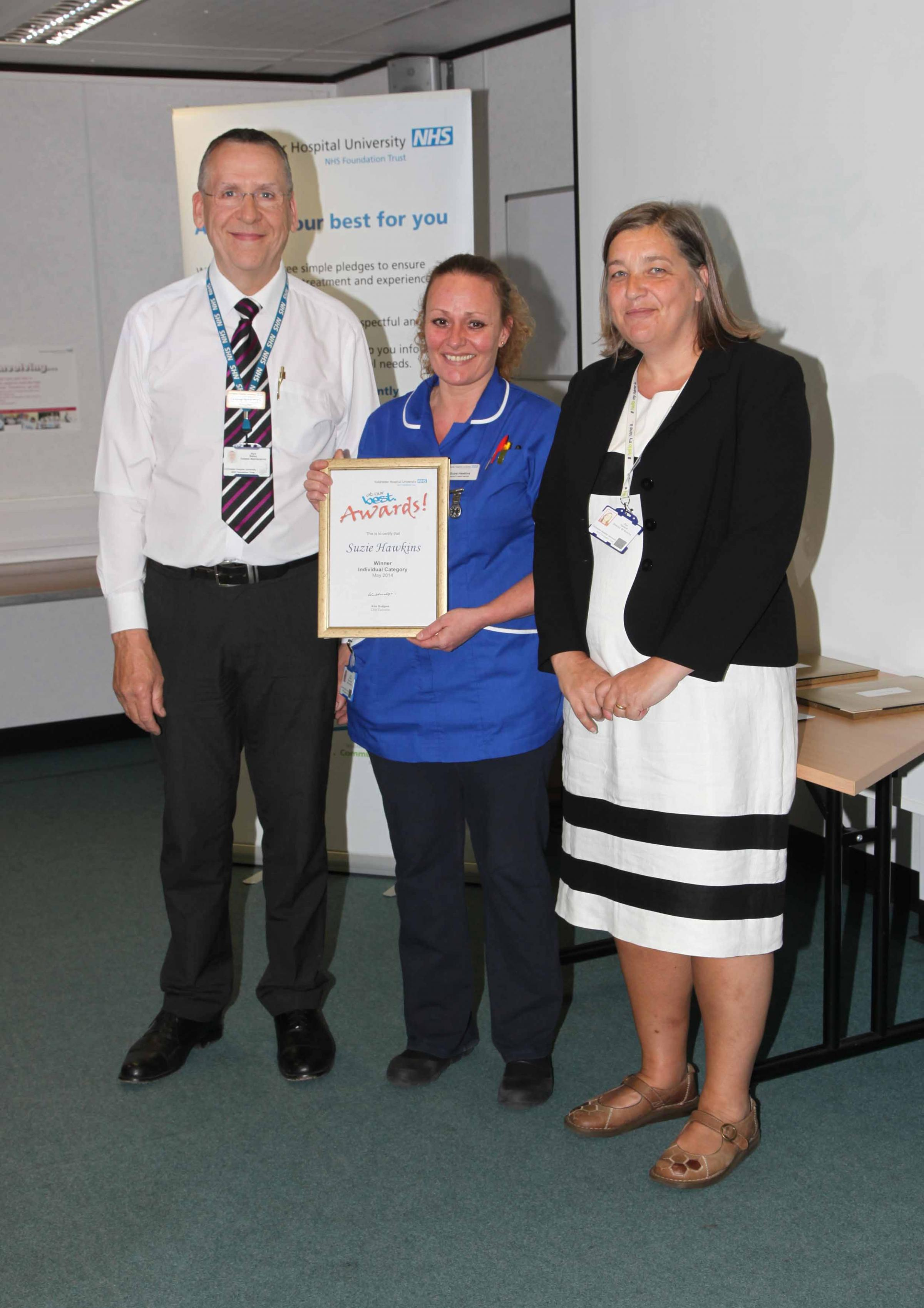 Colchester General Hospital staff recognised for strength of care for patients