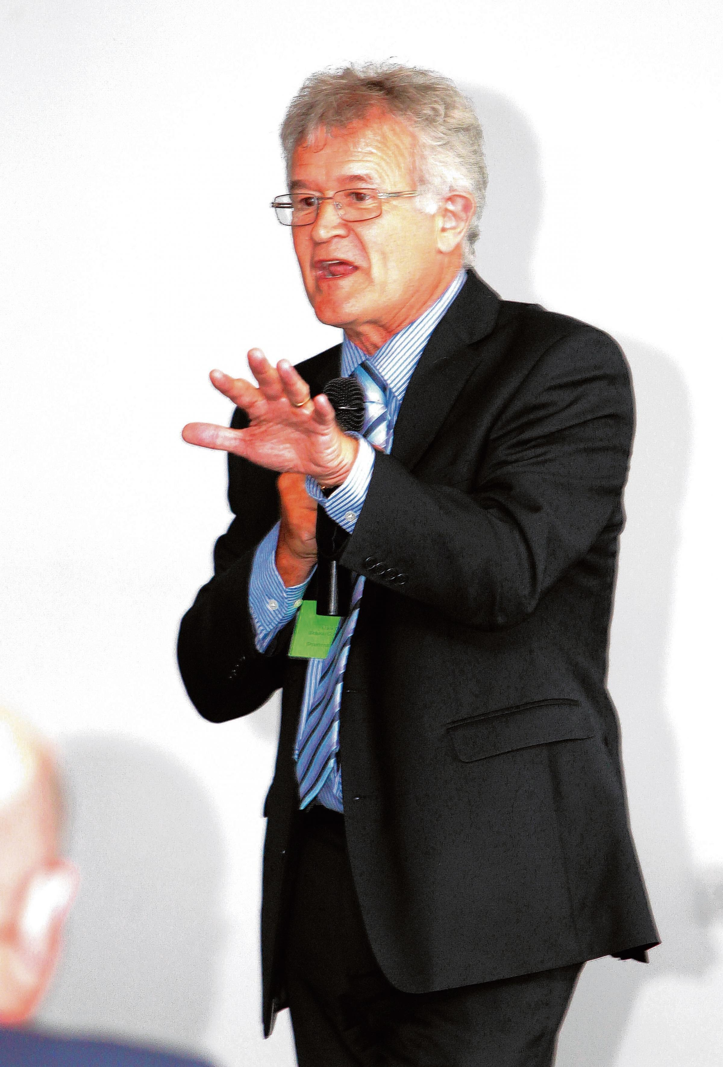 Frank Green spoke to school leaders in Colchester yesterday