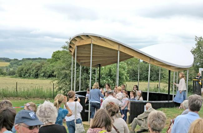 Little ones unveil outdoor classroom built by award-winning architects