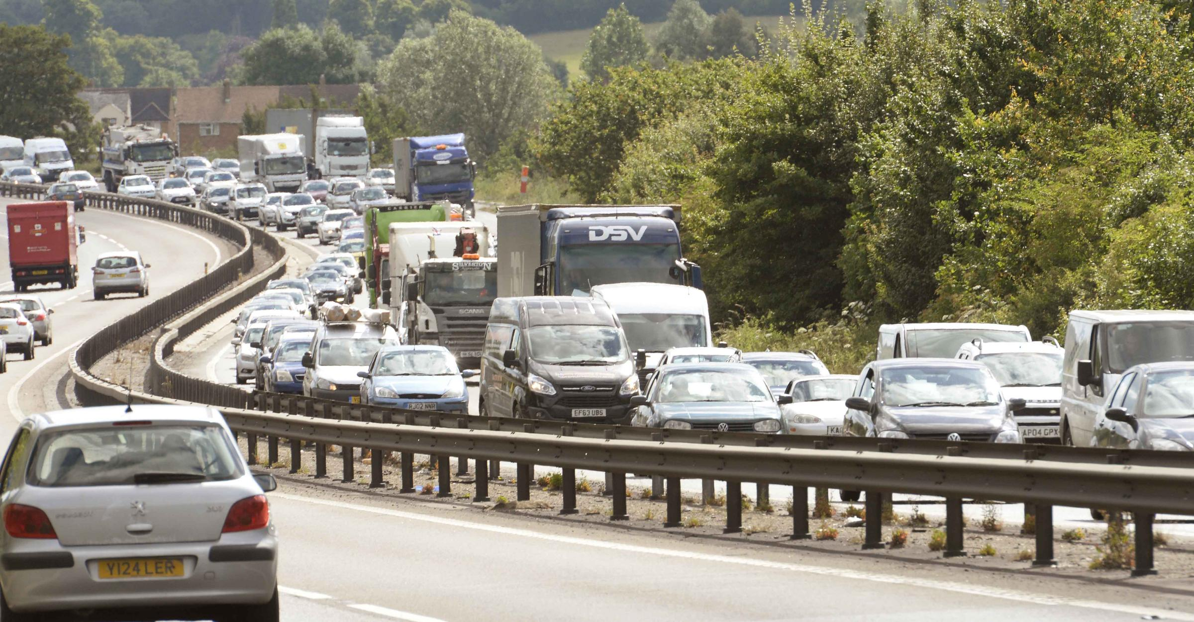 Up to seven vehicles in A12 crash