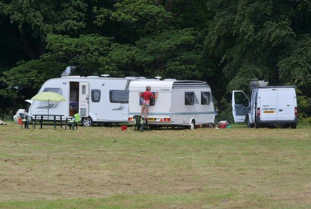 More travellers set up camp by stadium
