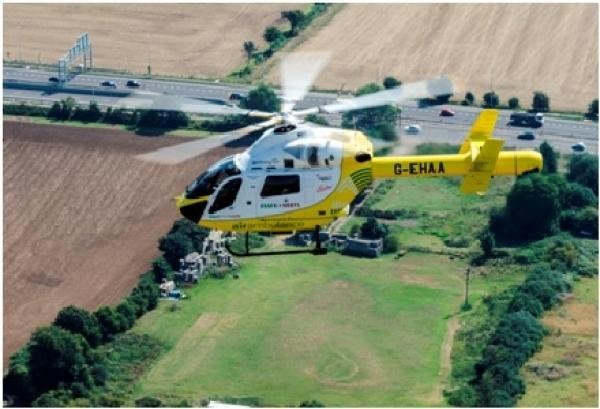Gazette: Air Ambulance called to Tour de France route in Finchingfield