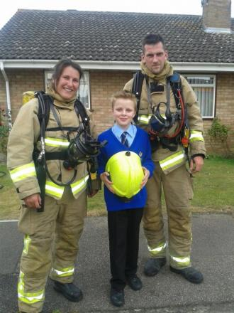 Schoolboy Luke raises the alarm after bungalow blaze