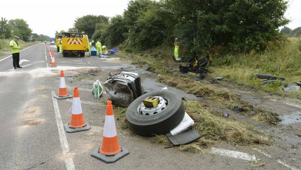 Drivers in hospital after A120 crash