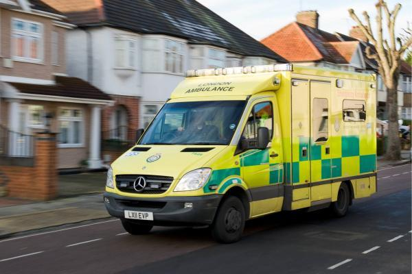 Motorcyclist rushed to hospital