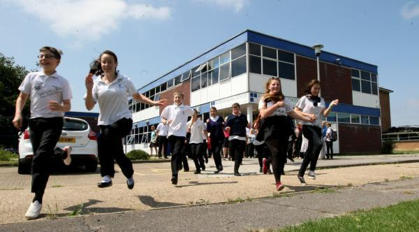 School's out forever! Pupils and teachers bid farewell to Alderman Blaxill