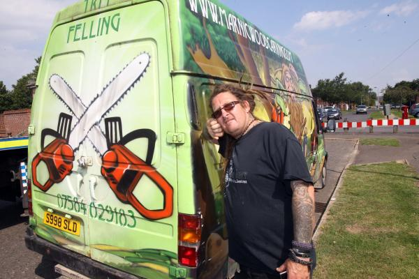 Appeal after Rusty's van stolen and dumped - minus his wood carver's tools