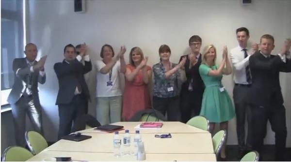 VIDEO: Teachers dance through corridors to celebrate end of term