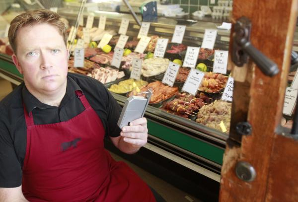 Butchers' takings stolen as burglar rips safe from wall