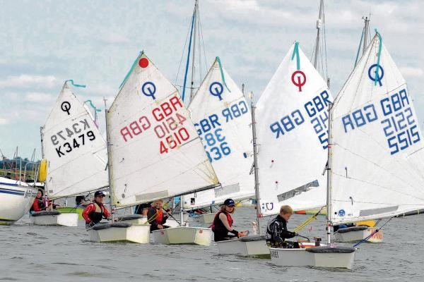 Great conditions - sailors in Mersea Cadet Week's Emerald fleet head out to race