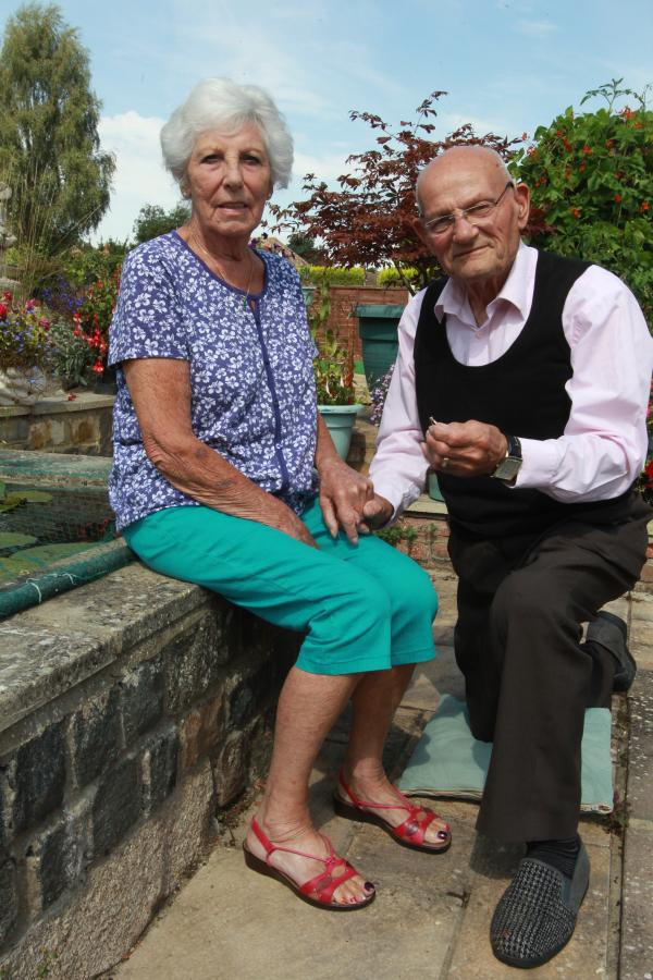 Roy, 87, gets down on his bad knee to pop the question...