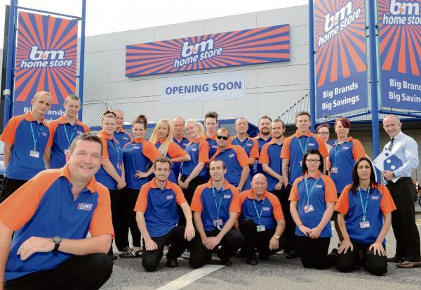 Clacton's new B&M store with workers