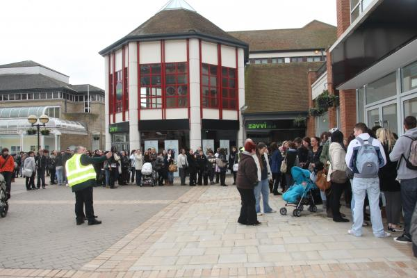 Queues for the opening from H&M in 2010.
