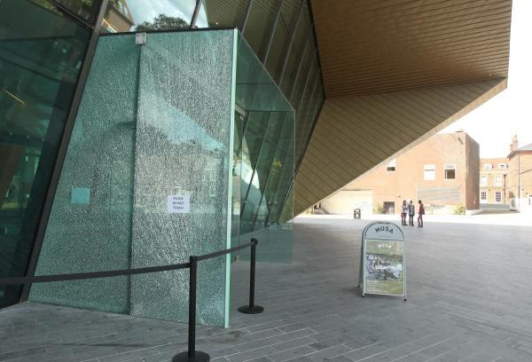 Firstsite targeted by vandals