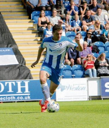 Ruled out - Drey Wright is out of Colchester United's game against Charlton Athletic with a knee injury. Picture: STEVE ARGENT (CO97648-29)