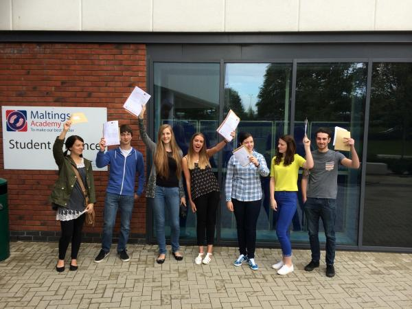 Maltings Academy students, along those at New Rickstones Academy, are celebrating some top A-level results